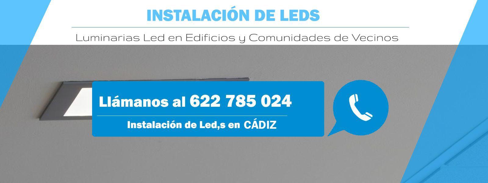 Instalación de luces led
